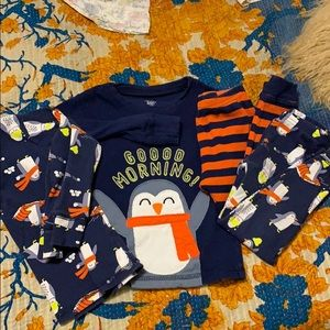 4 piece Carter's pajamas 3t